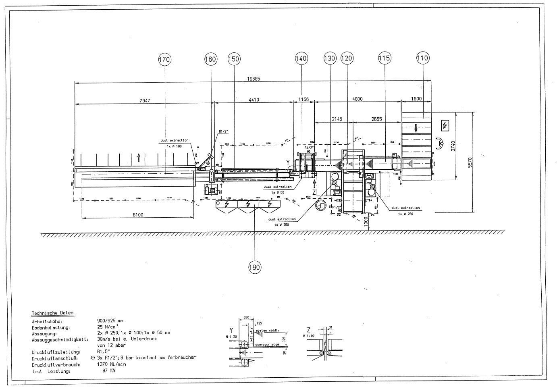 GreCon Combipact 4 vollautomatische Keilzinkenanlage - S/N - 26